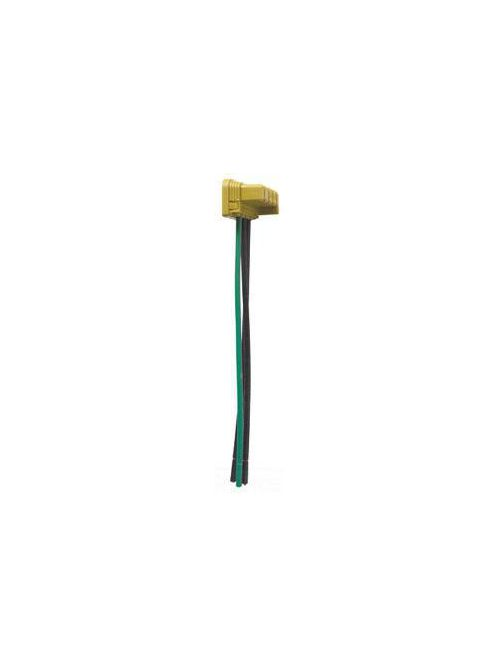 Pass & Seymour PTS6-STR3-277 15/20 Amp 120/277 VAC 1-Pole 3-Wire Stranded Green/Brown/Brown Polycarbonate AC Switch Connector