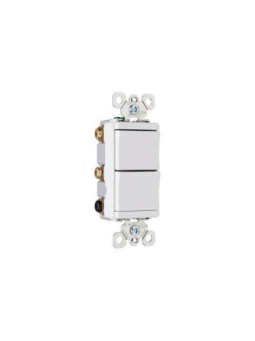 Pass & Seymour TM813-WCC 15 Amp 120 VAC 1-Pole White Screw Mounting Decorator Combination Switch