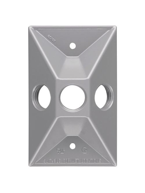 Pass & Seymour WPB13 Gray 1-Gang Raised Weatherproof Box Outdoor Lamp Cluster Cover