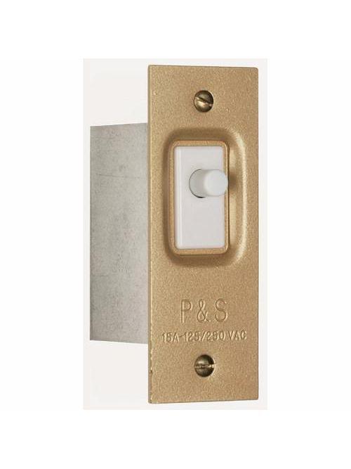 Pass & Seymour 1200 120/250 VAC 15 Amp Bronze Coat Steel Plate Light On Door Open Pressure Sensitive Door and Canopy Switch