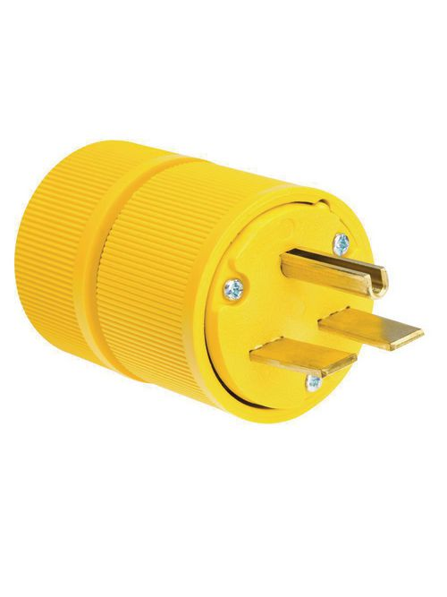 Pass & Seymour D0631 30 Amp 250 Volt 2-Pole 3-Wire NEMA 6-30P Yellow Straight Blade Power Plug
