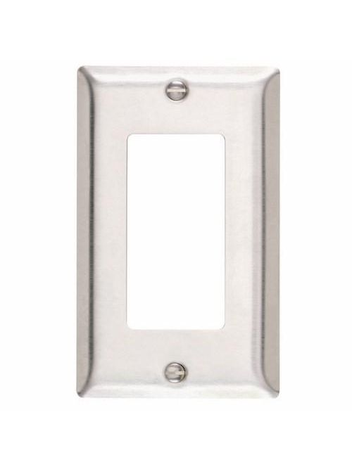 Pass & Seymour SS26 1-Gang 1-Decorator Smooth Brushed Stainless Steel Standard Wallplate