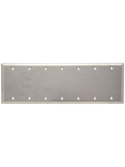 Pass & Seymour SS601 7-Gang 7-Toggle Switch Smooth Brushed Stainless Steel Standard Wallplate
