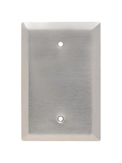 Pass & Seymour SSO13 1-Gang Blank Smooth Brushed Stainless Steel Jumbo Wallplate