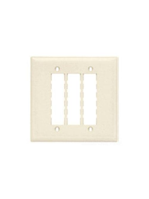 On-Q TPD9-W 2-Gang 9-Port White Data Communication Wallplate