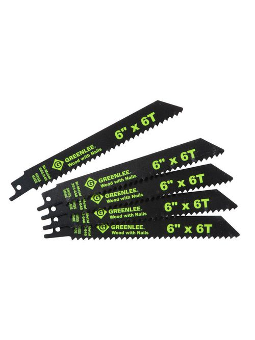 Greenlee 353-646 6 x 3/4 x 0.05 Inch Bi-Metal Straight Back Reciprocating Saw Blade