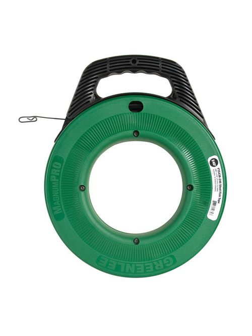 Greenlee FTS438-240 1/8 Inch 400 lb Steel Comfort Grip Handle Rugged Case Fish Tape