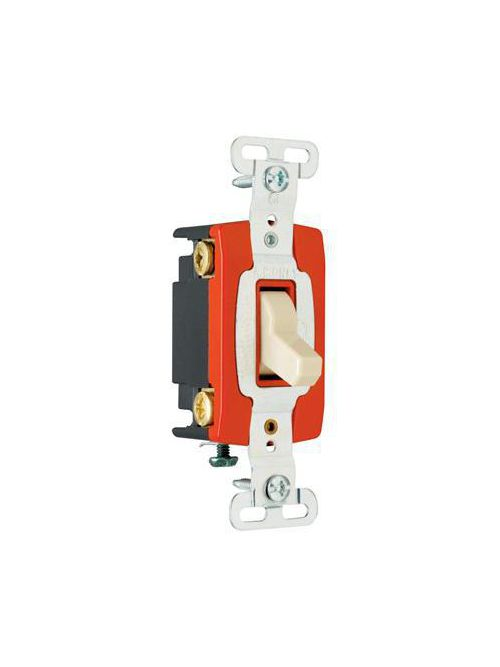 Pass & Seymour PS20AC4 20 Amp 120/277 VAC 4-Way Brown Glass Reinforced Nylon Screw Mounting Toggle Switch