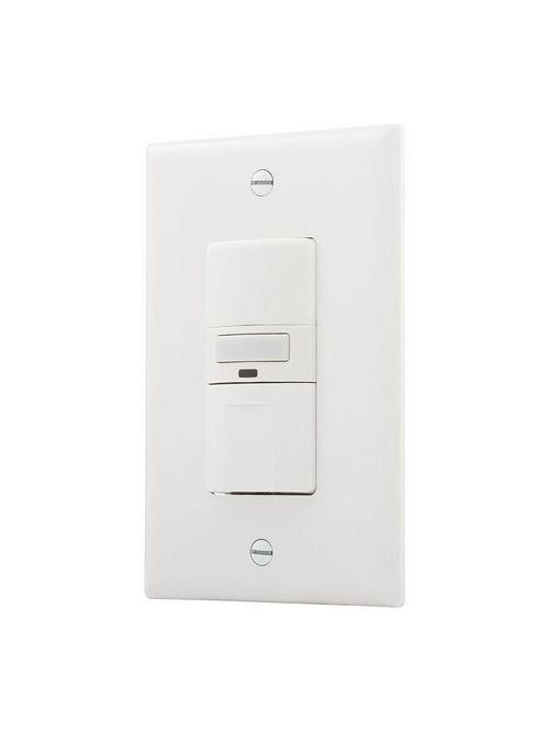 Eaton Wiring Devices OS310U-W 1000 W 120 VAC 1-Pole 3-Way 1/6 Hp Motor White Motion sensor