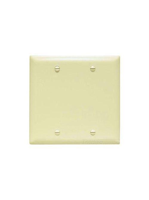 Pass & Seymour TP23-GRY 2-Gang Blank Gray Nylon Standard Unbreakable Wallplate