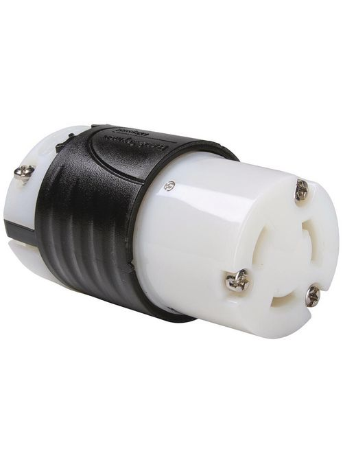 Pass & Seymour 3333-SS 125/250 VAC 30 Amp 3-Pole 3-Wire Polarized Locking Device Connector
