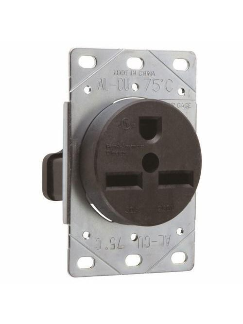 Pass & Seymour 3801 30 Amp 250 VAC 2-Pole 3-Wire NEMA 6-30R Flush Mount Straight Blade Power Receptacle
