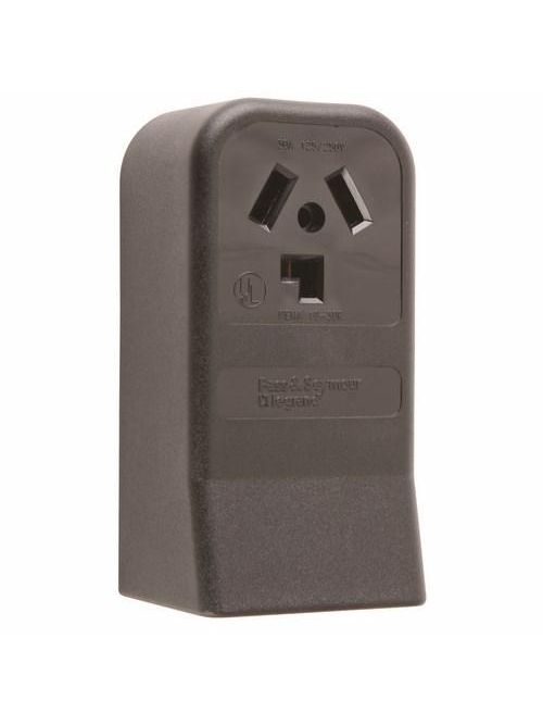 Pass & Seymour 388 30 Amp 125/250 VAC 3-Pole 3-Wire NEMA 10-30R Single Dryer Straight Blade Power Receptacle