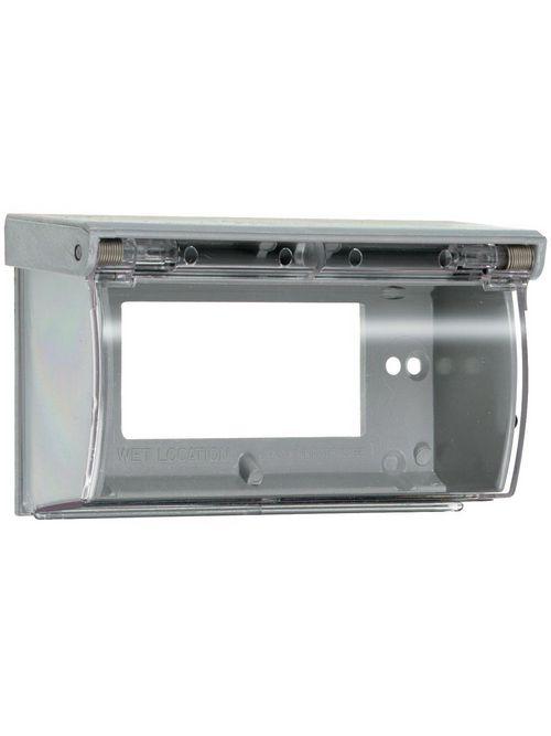 Pass & Seymour 3703 Gray Plastic Weatherproof Thermoplastic Self-Closing Cover