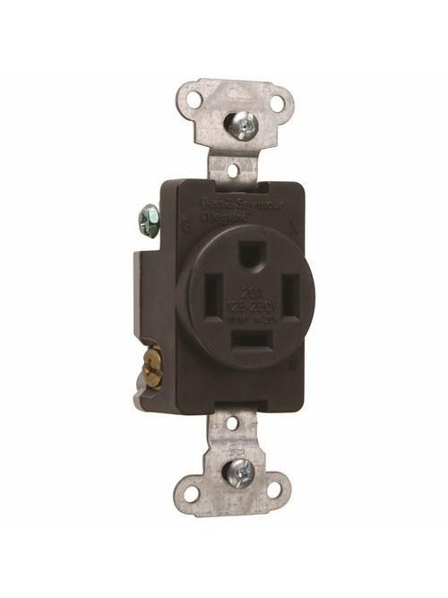 Pass & Seymour 3820 20 Amp 125/250 VAC 3-Pole 4-Wire NEMA 14-20R Straight Blade Single Receptacle