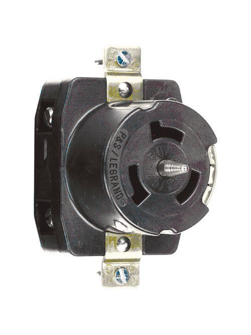 Pass & Seymour CS8169 50 Amp 480 VAC 3-Phase 4-Wire Non-NEMA Nylon Locking Receptacle