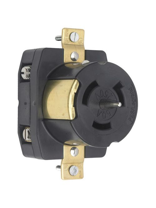 Pass & Seymour CS8269 50 Amp 250 VAC 3-Wire Non-NEMA Nylon Locking Receptacle