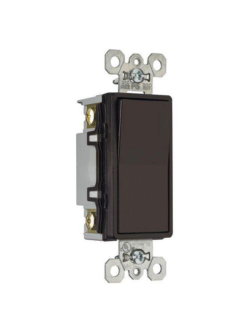Pass & Seymour TM874 15 Amp 120/277 VAC 4-Way Brown Thermoplastic Screw Mounting Grounding Rocker Decorator Switch