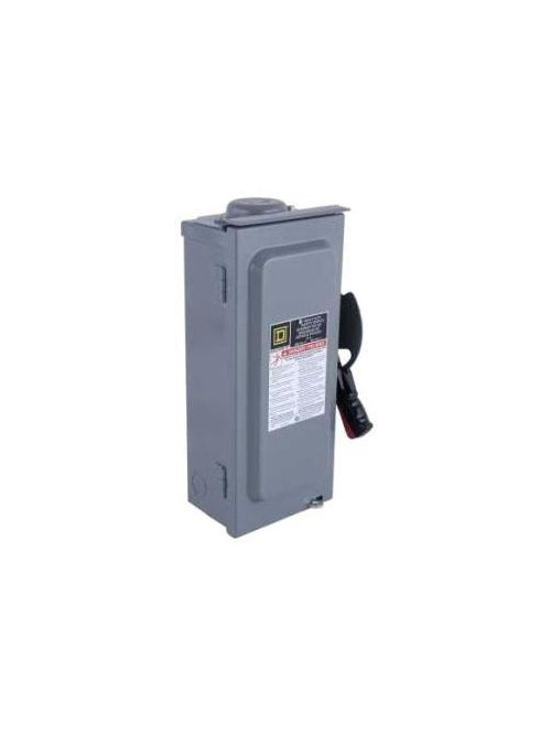 Square D HU361RB 600 VAC 30 Amp 3-Pole Non-Fusible Heavy Duty Safety Switch