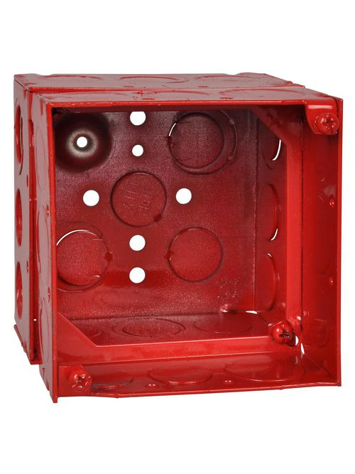 Steel City 52171-EXTRD 2-1/8 Inch Red Pre-Galvanized Steel Welded Square Box