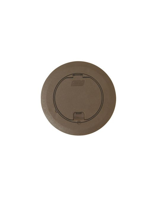 Steel City 68R-CST-BRN Brown Round Recessed Cover
