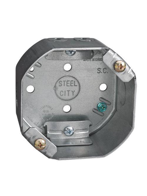 Steel City 54171-CFB 4 Inch Galvanized Steel Octagon Ceiling FanBox