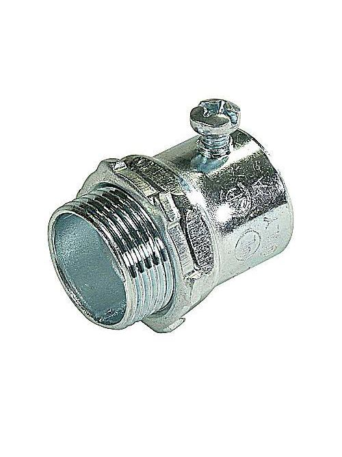 Steel City TC125US 1-1/2 Inch Zinc Plated Steel Non-Insulated EMT Connector