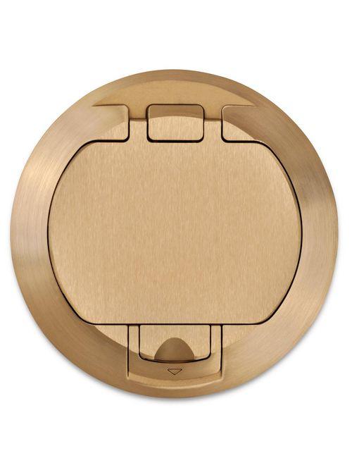 Steel City 68-HP-FC-BRS Brass Flush Cover