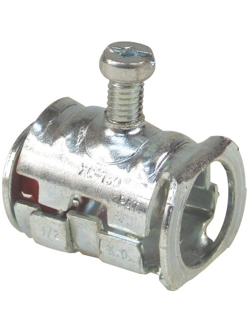 Steel City XC-7300 1/2 Inch Knockout Cable Lok Set Screw Connector