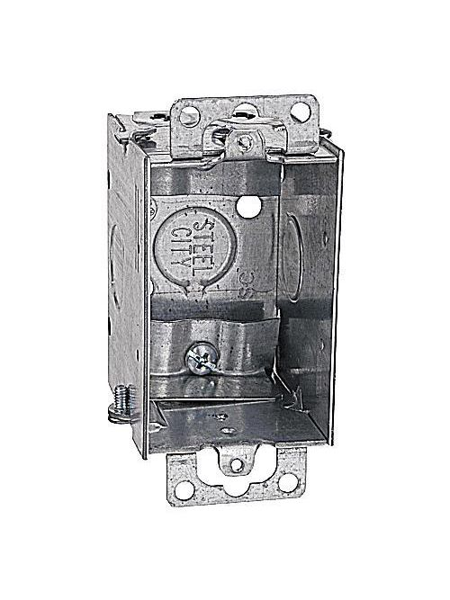 Steel City LXWOW-25 2-1/2 Deep Gangable Steel Switch Box with Ears and Clamp