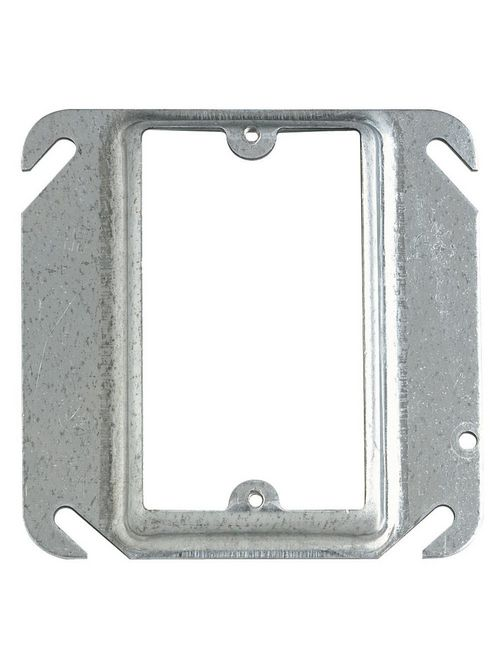 "Steel City 52C15 4"" Steel Square Box Device Cover, 1"" Raised, 7 cu.in."