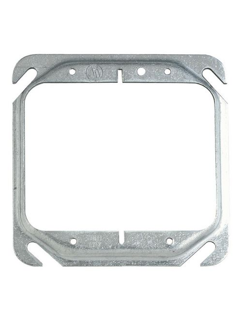 Steel City 52C20-25 2-Gang 4 Inch Side 1/4 Inch Steel Raised Square Box Cover