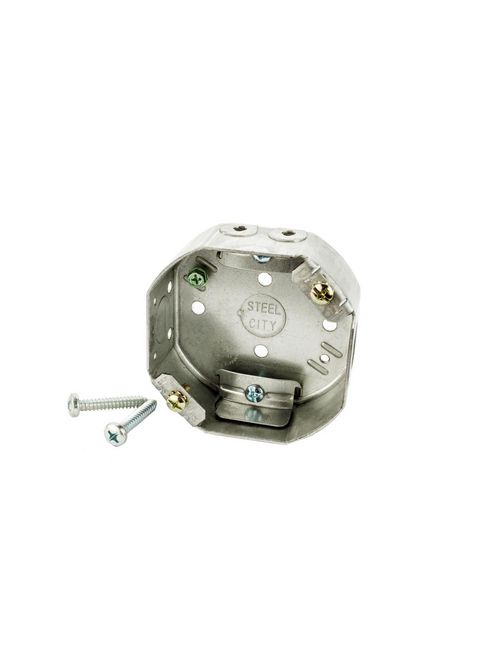 Steel City 54151-CFB 4 x 1-1/2 Inch Octagon Ceiling Fan Box with 1/2 Inch Knockout
