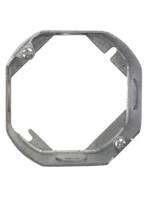 Steel City 551511/2-25 4 Inch 1-1/2 Deep Octagon Box Extension Ring with Knockouts