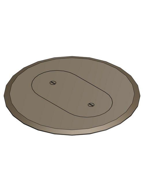Steel City P-68-SRC-BRN Brown 1 Receptacle Plastic Cover Plate