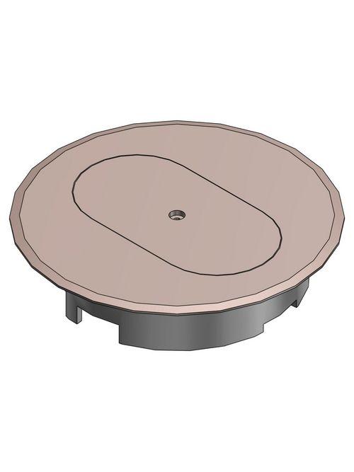 CL E97DST DUPLEX RECEP FLR BOX CVR-
