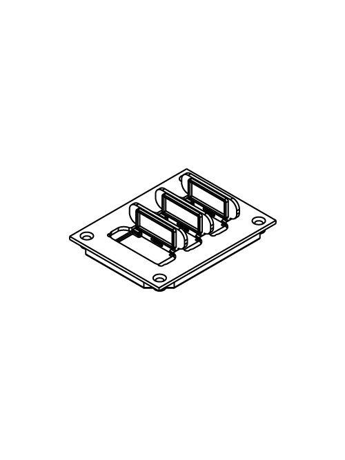 "Wiremold 829PFL-BLK 3-3/16 x 4-1/8"" Black Polycarbonate Flip Lid Floor Box Communication Cover Plate"