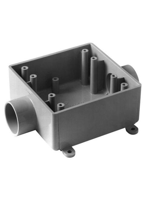 """Carlon E9812F 1"""" 2-Gang Type-2FSC Non-Metallic Switch/Outlet Box"""