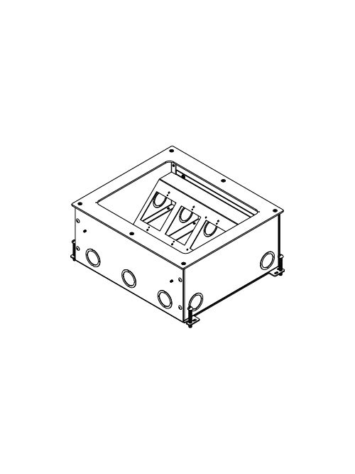 Wiremold RFB11-OG 6 Inch 11-Gang Steel Rectangular Floor Box