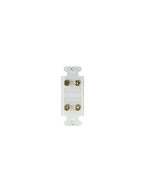 On-Q F9005-WH White Pre-Configured Universal Dual Speaker Connection Strap