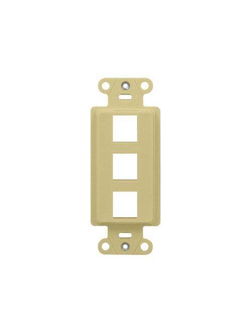 On-Q WP3413-IV 3-Port Ivory Decorator Outlet Strap