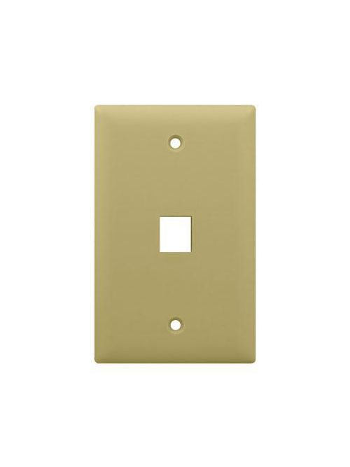 On-Q WP3401-IV 1-Gang 1-Port Ivory High Impact Flame Retardant Plastic Keystone Wallplate