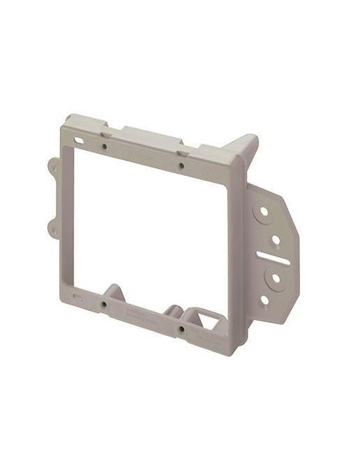On-Q AC1009-02 4 x 3.75 Inch 2-Gang Gray Smooth Flame Retardant Plastic In-Wall Face Mount Low Voltage Bracket