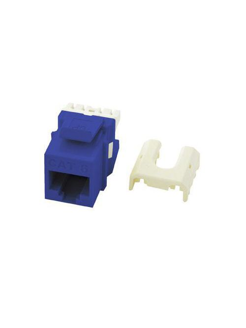 On-Q WP3476-BE RJ45 8-Position 8-Wire Category 6 Blue Plastic Quick Connect Keystone Connector