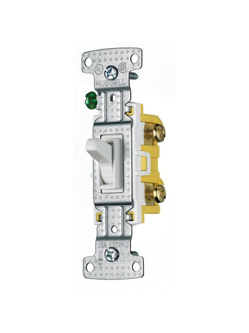 Hubbell Wiring Devices RS115W 15 Amp 120 VAC 1-Pole White Toggle Switch