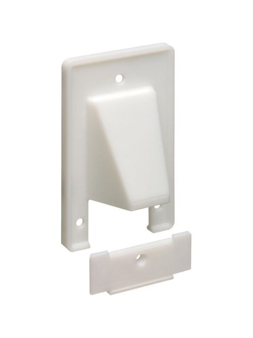 Arlington CER1 1-Gang White Existing Cable Entrance Plate