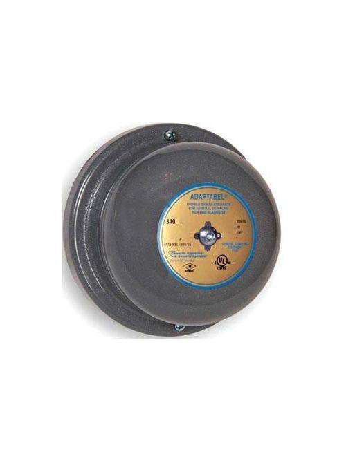 Edwards Signaling 340-4R5 4 Inch Gong 240 VAC 0.031 Amp 98 dB Round Vibrating Bell