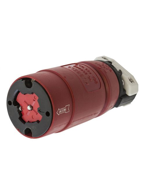 Hubbell Wiring Devices HBL20444B 30 Amp 480 Volt 3-Pole 4-Wire Red Locking Connector Body