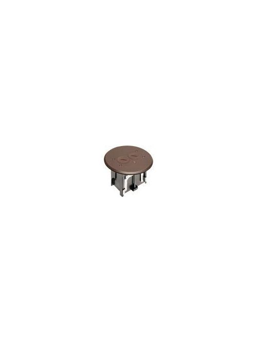 Arlington FLBAR101BR Brown Adjustable Floor Box with Round Cover