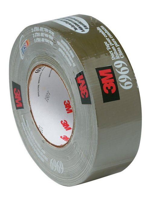 3M Industrial Safety 6969 48 mm x 54.8 m Polyethylene Cloth Rubber Adhesive Extra Heavy Duty Duct Tape
